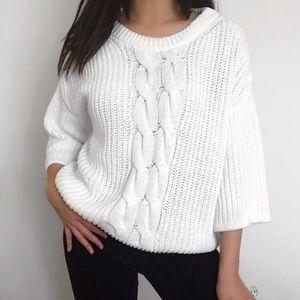 H&M chunky white knit sweater